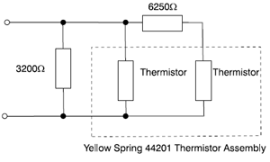 Linear Thermistor Network