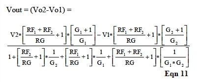 IC Op Amp Errors - Equation 11