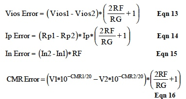 IC Op Amp Errors - Equation 13-16