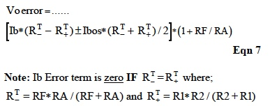 IC Op Amp Errors - Equation 7