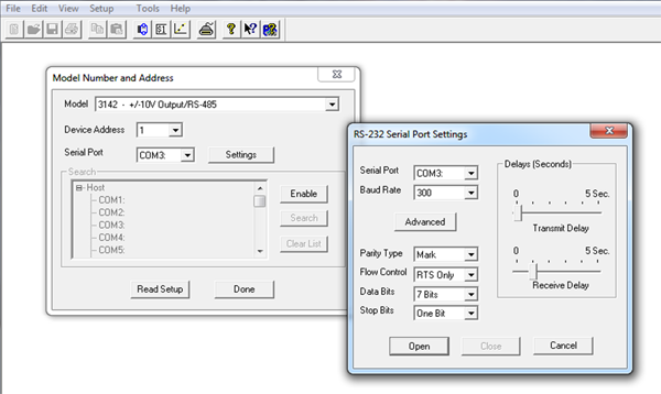 SCM9B Configuration and Utility Software