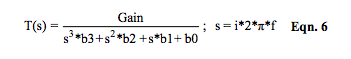 s-domain transfer function