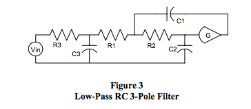 low-pass RC 3-pole filter