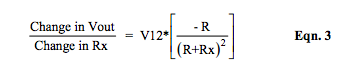 partial derivative of R-ohm bridge Vout