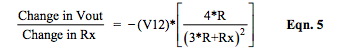 current Iexc excited R-ohm bridge circuit equation