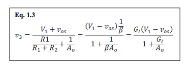 amplifier ideal gain equations