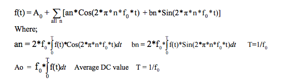 fourier series equations