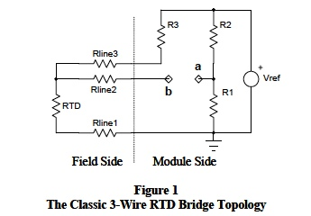 rtd resistance temperature detector 3 wire rtd bridge topology