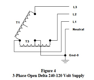 3-Phase Open Delta voltage supply