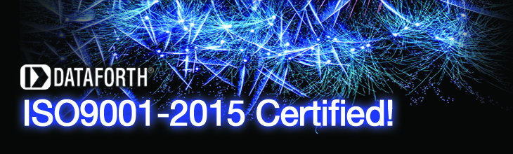 Dataforth is ISO9001-2015 compliant