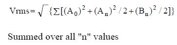 Measuring RMS Values - Equation 5