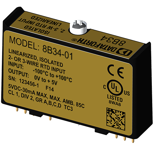 Linearized 2- or 3-Wire RTD Input Module