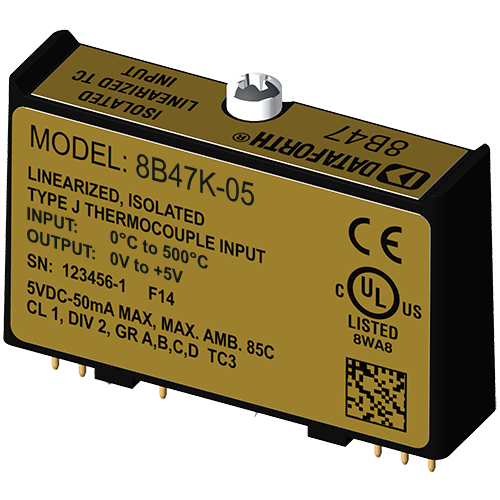 8B47K-05: 8B Linearized Thermocouple Input Modules