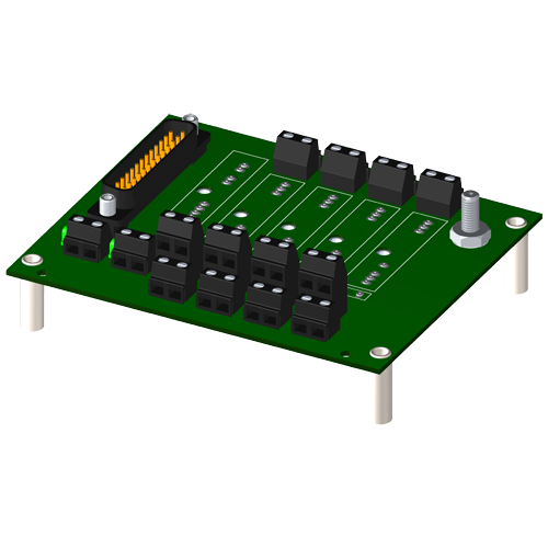4-channel backpanel without cold junction compensation sensor