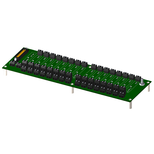 16-channel backpanel without cold junction compensation sensor