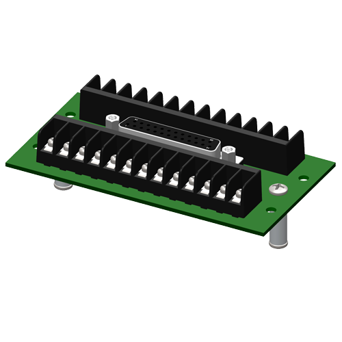 DB25 to screw terminal interface board