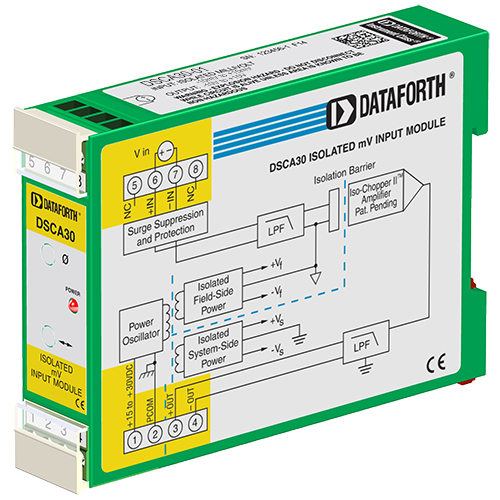 DSCA Series - High Performance DIN Isolated Analog Signal Conditioners