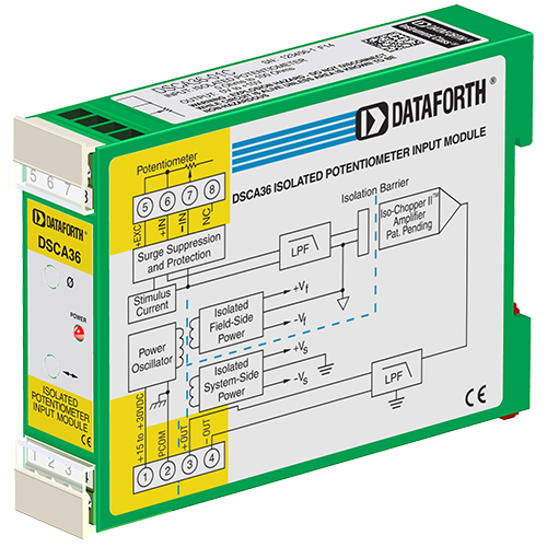 DSCA36-01C: Potentiometer Input Signal Conditioner