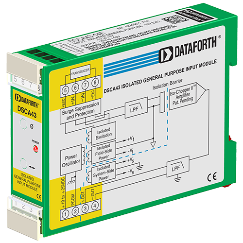 DSCA43-14E: General Purpose Input Signal Conditioner, with DC Excitation