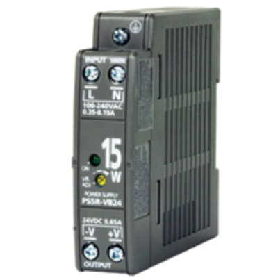 PWR-PS5R15W: Power Supply, DIN Rail Mount, 85-264 VAC 47-63 Hz In, 24 VDC 0.65 A Out