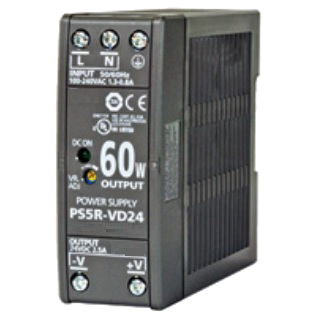 PWR-PS5R60W: Power Supply, DIN Rail Mount, 85-264 VAC 47-63 Hz In, 24 VDC 2.5 A Out