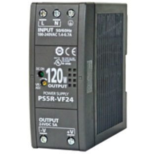 PWR-PS5R120W: Power Supply, DIN Rail Mount, 85-264 VAC 47-63 Hz In, 24 VDC 5.0 A Out