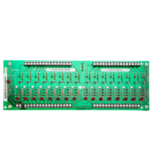 SCMD-PB16TSMD: 16 Ch Backpanel, Miniature with Term Block Output, DIN Mount
