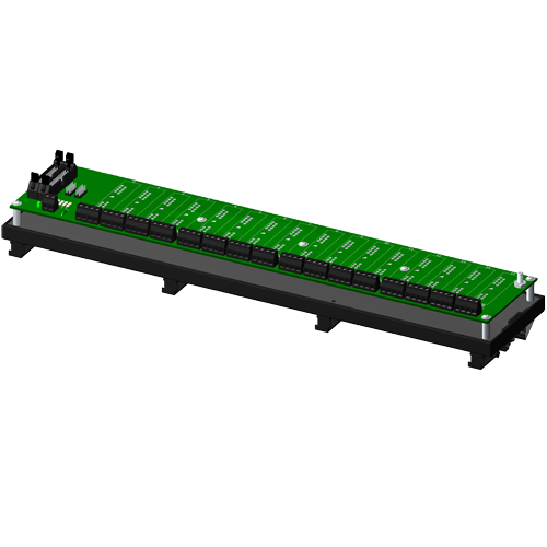 Multiplexed, 16 channel backpanel, no CJC, with DIN rail mounting option, for SCM5B modules