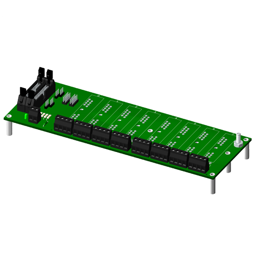 Multiplexed, 8 channel backpanel, no CJC, for SCM5B modules