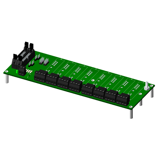 Multiplexed, 8 channel backpanel, for SCM5B modules