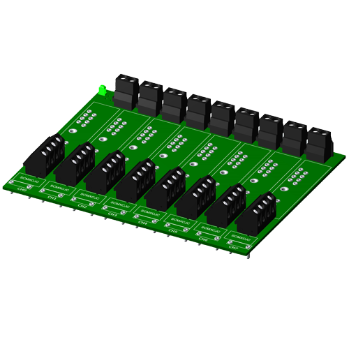 Non-multiplexed, 8 channel backpanel, no CJC, for SCM5B modules