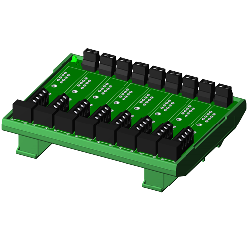 Non-multiplexed, 8 channel backpanel with DIN rail mounting option, for SCM5B modules